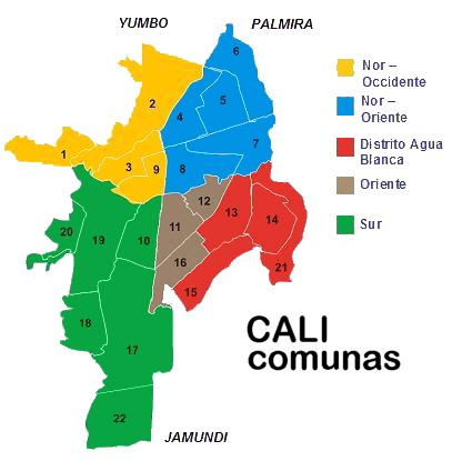 apartamento en la Comuna 2 -Mapa